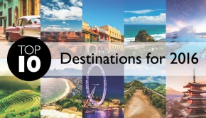Top 10 travel destinations for 2016 banner