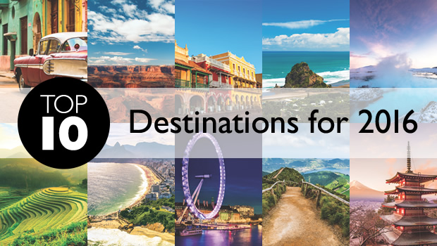 Top 10 destinations for 2016 for Vacation spots for november