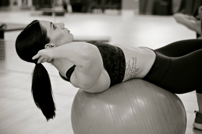 female working out