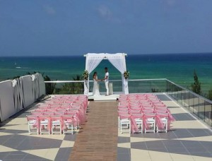 Azul Fives sky terrace wedding Riviera Maya Mexico