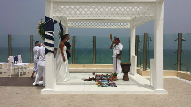 Azul Fives sky terrace wedding_Riviera Maya Mexico