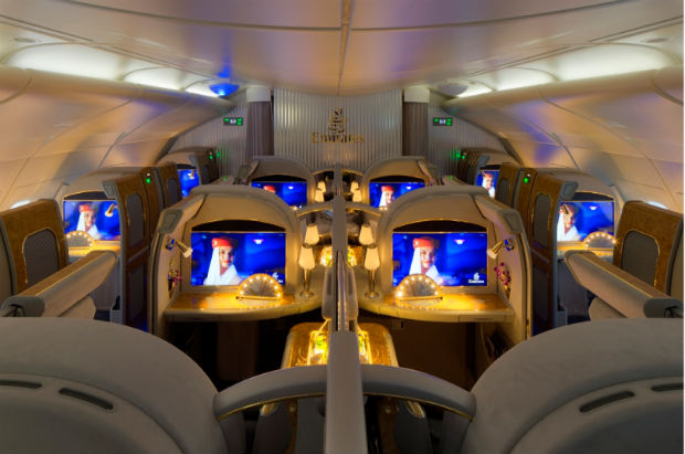 Emirates, airplane, flight, first class