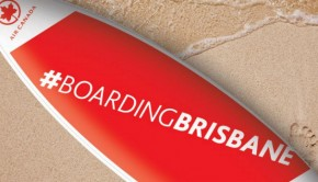#boardingbrisbane Air Canada surf board
