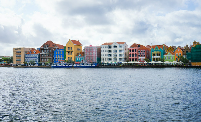Curacao view of the city from the water