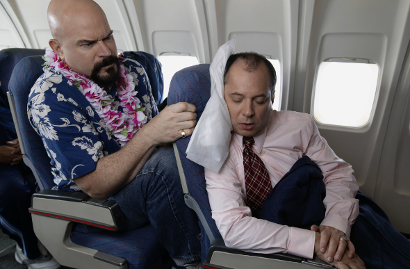 airplane seat-reclined funny