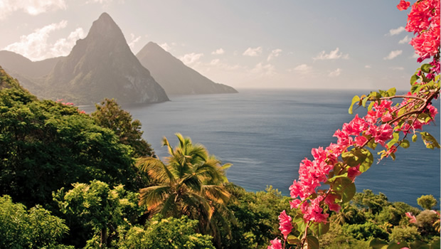 st lucia mountain and water views