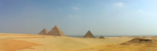 panaormana pyramids of giza egypt