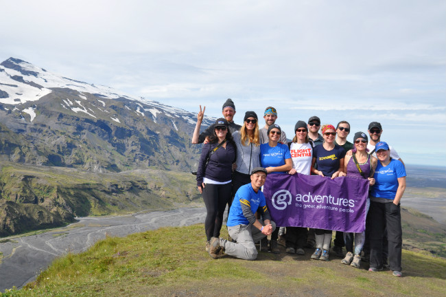 GAdventures group in Iceland
