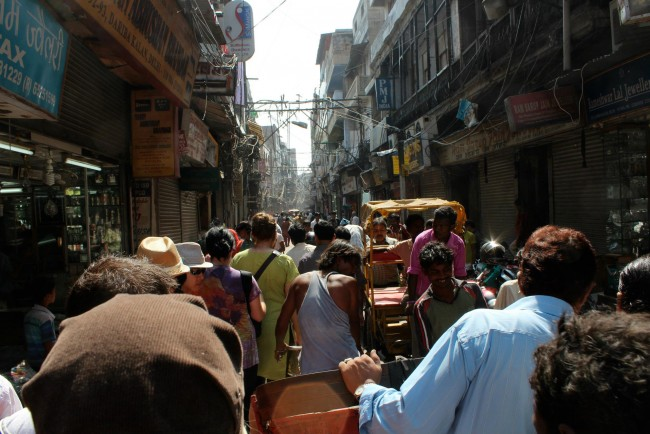 delhi crowded streets of India