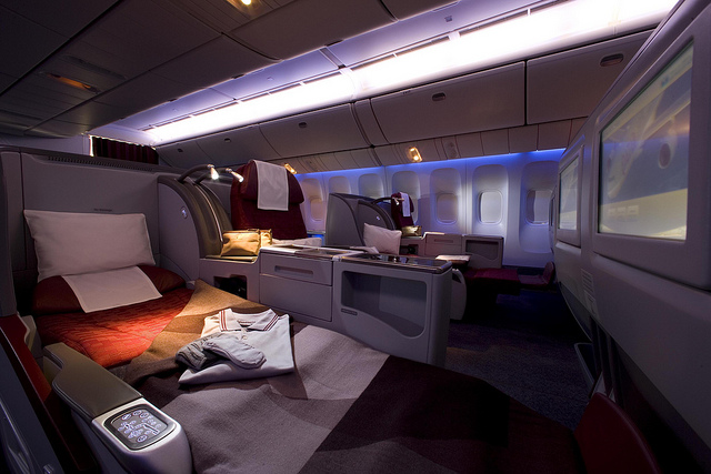 Qatar Airways 777 Business Class