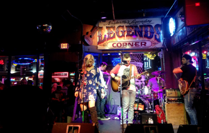 Band at Legends Corner Nashville