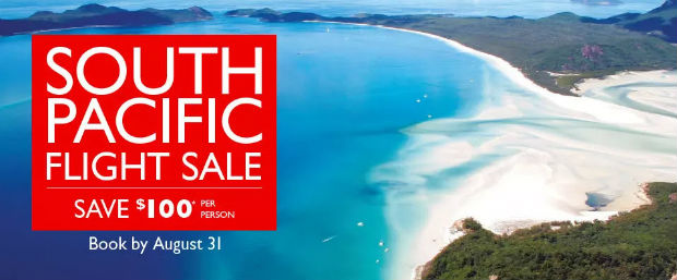 South Pac Flight Sale