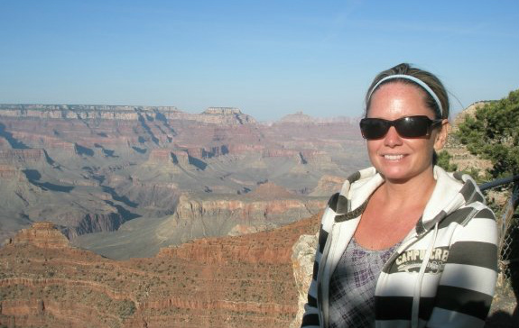 Sue at the Grand Canyon