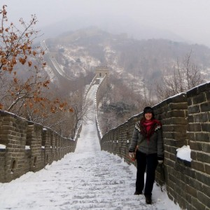 Chelsea on Great Wall of China