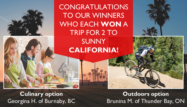 California Contest Winners Image