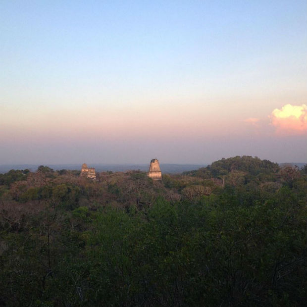 Amanda Bennett Tikal Sunset central america