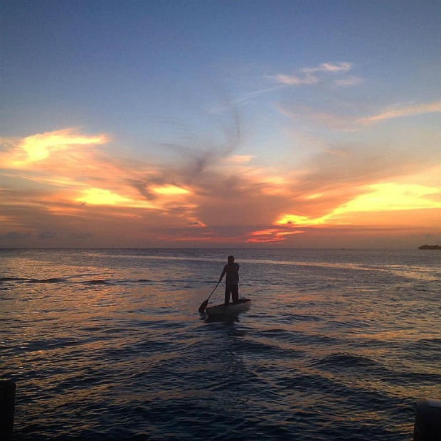 Amanda Bennett - caye caulker sunset central america