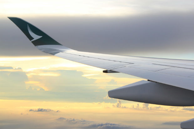 Cathay A350 Wingtip