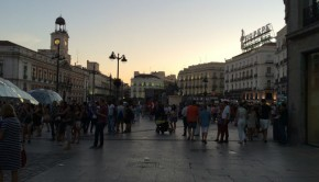 Streets of Madrid at Dusk