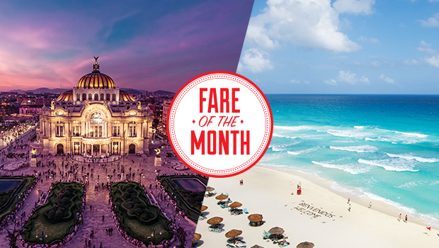 Flight Centre Canada Fare of the Month