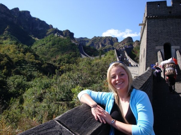 cruise expert melissa wand at the great wall of china