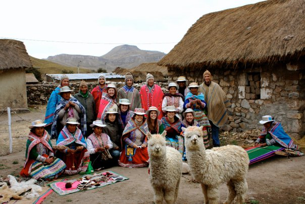Vicky dressed up with family in the Colca Canyon, Peru