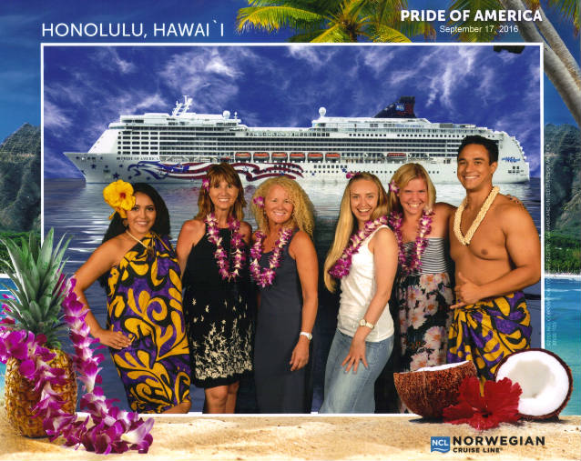tiffany turchak group photo on the pride of america