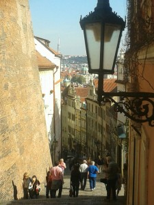 Prague Castle steps