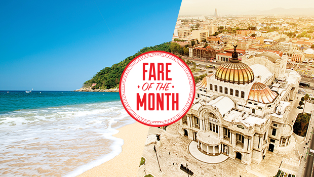 fare of the month widest choice of airfares mexico
