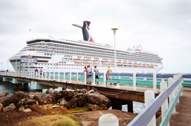carnival cruise ship at port