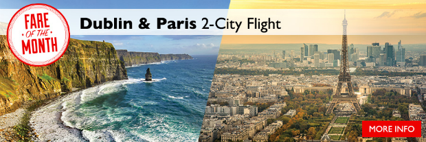 flight centre fare of the month air france dublin and paris