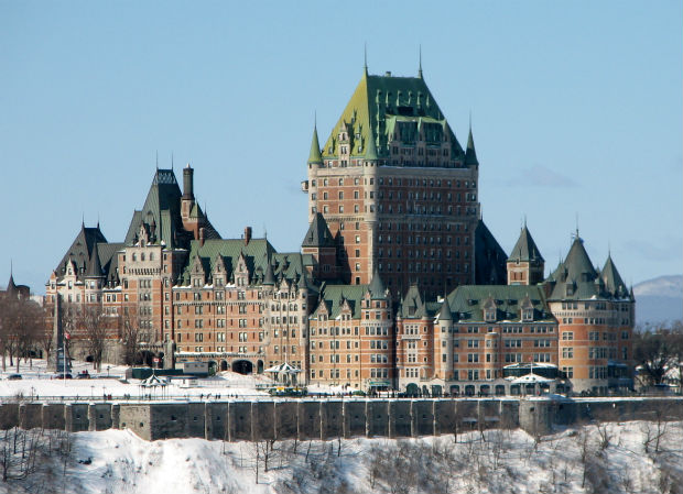 quebec city winter french ski chateau frontenac snow ice carnaval du quebec fairmont hotels canada winter activities st lawrence seaway st lawrence river