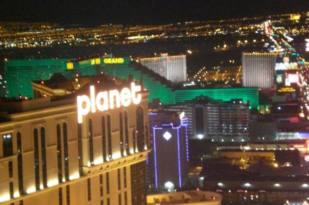 Michael Tugwell Vegas at night, planet hollywood