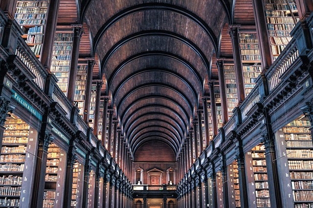 soaring trinity library in dublin ireland storeys and stacks of books