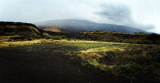 volcanic landscape in hawaii
