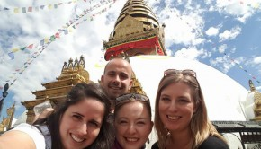 sam hobbs with g adventures group in nepal