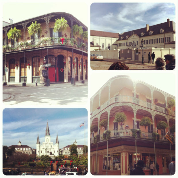 jackson square, convent, architecture in the french quarter, new orleans, louisiana