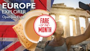 europe explorer open jaw flight