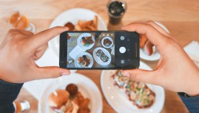 instagram worthy food photos on a smartphone