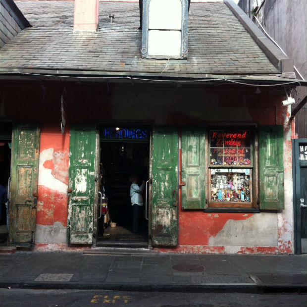 colourful building in the french quarter, new orleans, louisiana