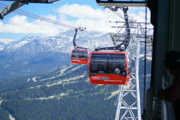 peak 2 peak gondola in whistler, british columbia