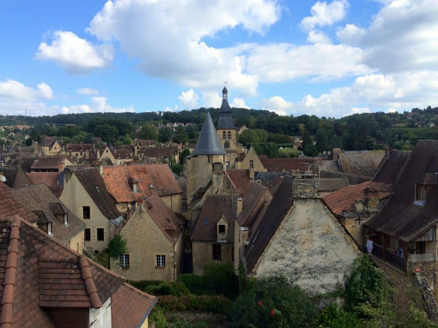 landscape of sarlat, france
