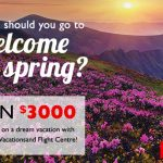 And the Winner of Our 'Where Should You Go to Welcome Spring?' Contest is…
