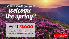 welcome spring contest flight centre