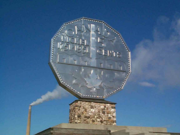 big nickel five cents visit sudbury canada 150