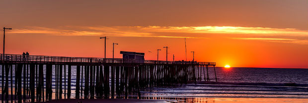california pier at sunset pacific ocean beauty
