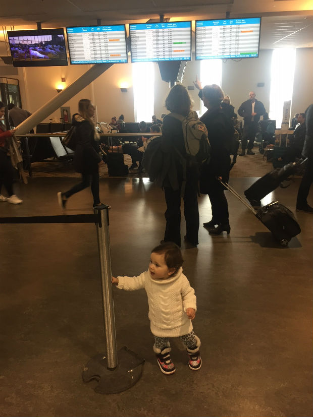 baby at airport toddler travelling