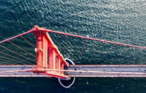 golden gate bridge cool aerial view california tourism flight centre