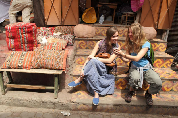 souk in morocco g adventures tour