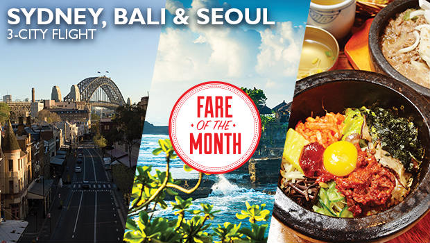 august fare of the month at flight centre